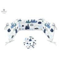 MimiNu - Aparatoare patut 120X60 cm, Childrens Journey blue