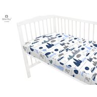 MimiNu - Cearceaf cu elastic, 140X70 cm, Childrens Journey blue