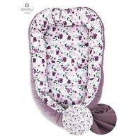 MimiNu - Cosulet bebelus pentru dormit, Baby Cocoon 90x50 cm, Velvet Flower Garden