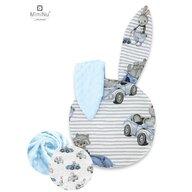 MimiNu - Perna bebelusi cu urechi, Minky Old Road blue
