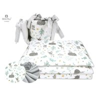MimiNu - Set 3 piese patut, Forest friends Grey/Mint