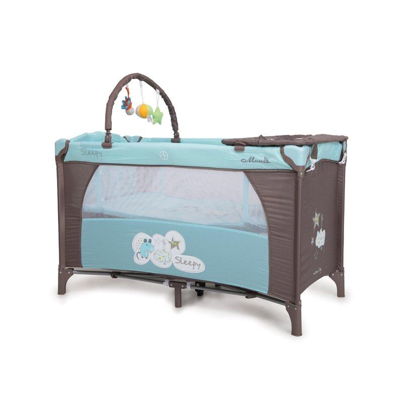 MONI Patut Pliant Bebe Moni Sleepy Albastru din categoria Patuturi pliante de la Moni
