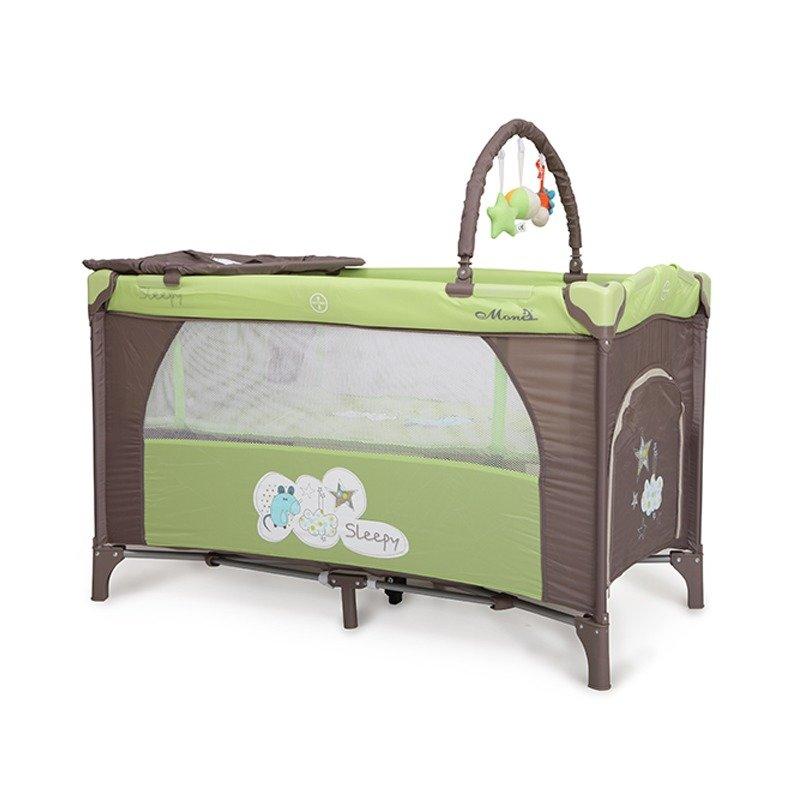 MONI Patut Pliant Bebe Moni Sleepy Verde din categoria Patuturi pliante de la Moni