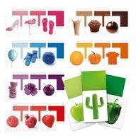 Headu - Set cartonase Sa invatam culorile Montessori