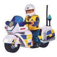 Simba - Motocicleta Police Cu accesorii, Cu figurina Malcolm Pompierul Sam