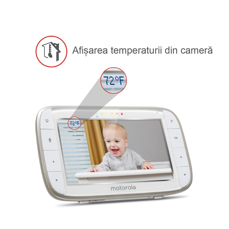 Motorola Videofon digital + Wi-Fi MBP845 Connect din categoria Interfon/Videofon Bebe de la Motorola