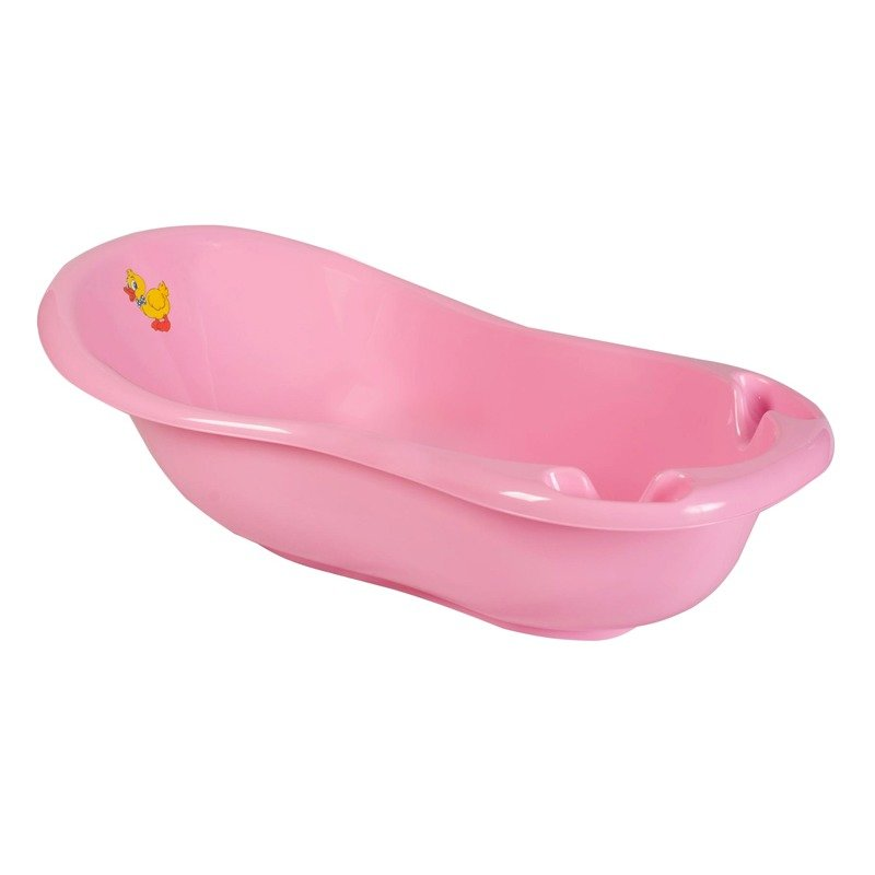 MyKids Cadita de baie bebe cu termometru MyKids Duck 100 cm Roz