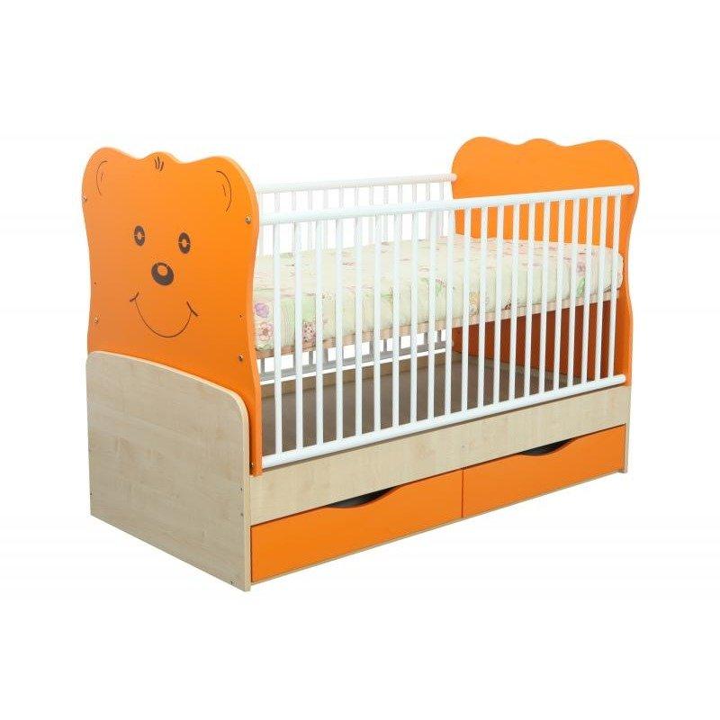 MyKids Patut Transformabil MYKIDS Teddy Natur-Orange Cu Leg 4837