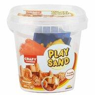 CRAFY - Nisip kinetic 350 gr, Cu 3 unelte de modelat Fun Sand, Portocaliu