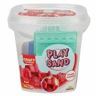 CRAFY - Nisip kinetic 350 gr, Cu 3 unelte de modelat Fun Sand, Rosu