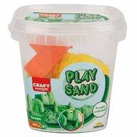 CRAFY - Nisip kinetic 350 gr, Cu 3 unelte de modelat Fun Sand, Verde