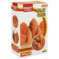 CRAFY - Nisip kinetic 500 gr Fun Sand, Portocaliu