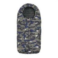 Nuvita - Sac termic de iarna Junior Slender 100 cm Camo Daisy din Poliester, Albastru/Gri