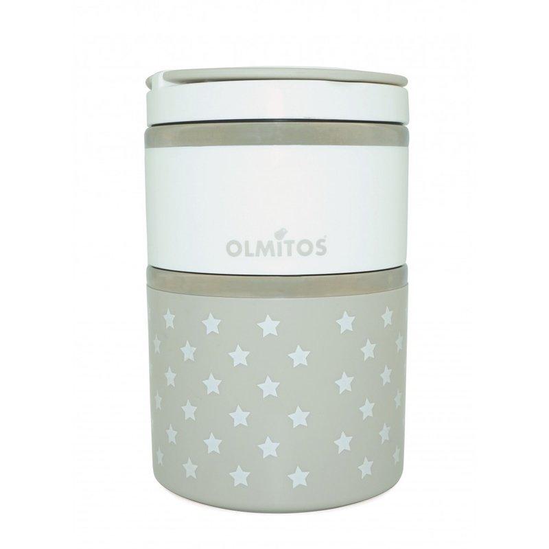 Olmitos – Termos mancare solida cu doua recipiente independente 250+570 ml bej din categoria Termosuri de la Olmitos