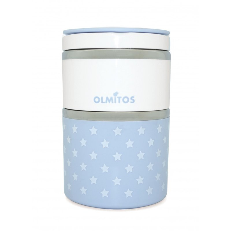 Olmitos – Termos mancare solida cu doua recipiente independente 250+570 ml bleu din categoria Termosuri de la Olmitos