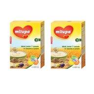Milupa - Pachet 2 x Cereale fara lapte,  Musli Jr 7 cereale cu banane si prune, 250g, 12luni+