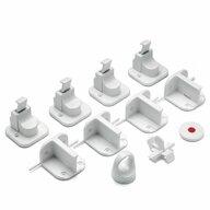 Reer - Sistem blocare mobilier 51020 Magnetice, 4 buc, Pentru sertare si usi de dulapuri