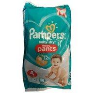 Pampers - Scutec Baby-Dry Nappy Pants 4 buc, De unica folosinta, 9-15 kg, nr4+