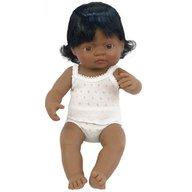Miniland - Papusa Baby hispanic fata 38 cm