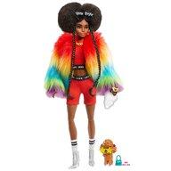 Barbie - Papusa  Curcubeu Cu accesorii, Cu figurina by Mattel Extra Style