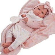 Antonio Juan - Papusa bebe realist Mi primer Reborn Berta Estrellas cu paturica  roz