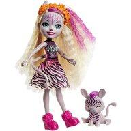 Enchantimals - Papusa Zadie Zebra Cu figurina Ref by Mattel