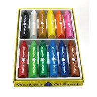 Nexus - Set Creioane Pasteluri uleioase triunghiulare lavabile