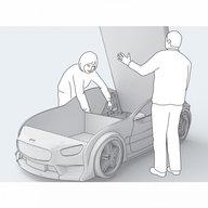 MyKids - Pat masina Neo Mercedes Galben
