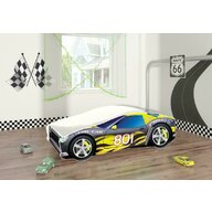 MyKids - Pat tineret Race Car 06 Black , 140x70 cm