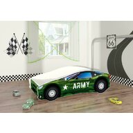 MyKids - Pat tineret Race Car 07 Army , 140x70 cm
