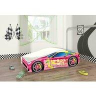MyKids - Pat tineret Race Car 08 Pink , 140x70 cm
