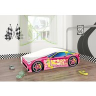 MyKids - Pat tineret Race Car 08 Pink , 160x80 cm