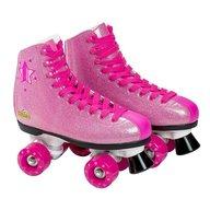 Saica - Patine cu rotile pentru fete 6991 Shak, marime 33, 4 roti si frana, roz cu sclipici