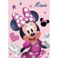 SunCity - Paturica Minnie Mouse din Poliester, 140x100 cm, Roz