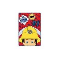 SunCity - Paturica Pompierul Sam din Poliester, 150x100 cm