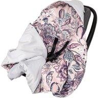 Infantilo - Paturica Boho Pentru scaun auto, De infasat Velvet din Bumbac, 90x90 cm, Gri/Roz