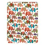 Deseda - Paturica dubla din bumbac Elefantei roz