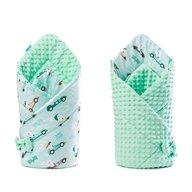 Sensillo - Paturica nou-nascut  Minky Wrap verde 80x80 cm