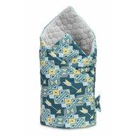 Sensillo - Paturica nou-nascut  Velvet Wrap Ornamente Albastre 75x75 cm