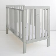 Woodies Safe Dreams - Patut din lemn Star Baby, 120x60 cm, Gri