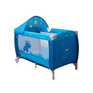 Coto Baby - Patut pliant cu doua nivele Samba Lux Cu sistem de leganare, 120x60 cm, Albastru