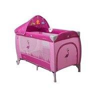 Coto Baby - Patut pliant cu doua nivele Samba Lux Cu sistem de leganare, 120x60 cm, Roz