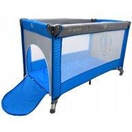 R-Sport - Patut pliant cu un nivel K1 din Otel, 120x60 cm, Albastru