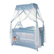 Lorelli - Patut pliant cu doua nivele Magic Sleep Stil baldachin Adventure, 120x60 cm, Albastru