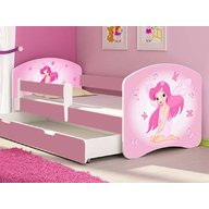 MyKids - Patut tineret Fairy cu sertar si saltea 140x70
