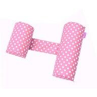 Deseda - Perna antisufocare  antiregurgitare si pozitionare bebelusi Deluxe - bulinute roz