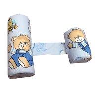 Deseda - Perna antisufocare  antiregurgitare si pozitionare bebelusi Deluxe - ursi cu albine pe albastru
