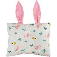Bambinice - Perna bebelusi Bunny, Alb/Roz/Flamingo