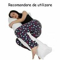 Deseda - Perna de gravide si relaxare cu husa detasabila  L Rosu cu buline albe