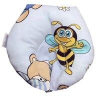 Deseda - Perna pt formarea capului bebelusului Deluxe - ursi cu albine pe albastru
